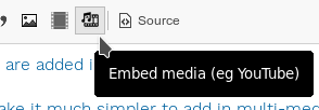 Embedded media button